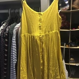 Yellow urban outfitters dress